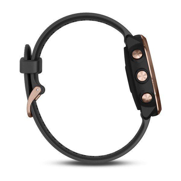 Forerunner 645 Music Rose Gold + bracelet noir - Reconditionné officiel