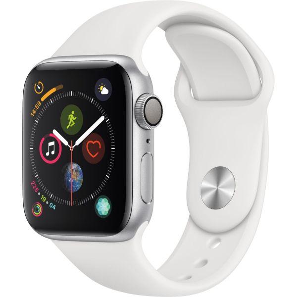 Apple Watch GPS Series 4 - 40mm - Silver / bracelet blanc  - Reconditionné