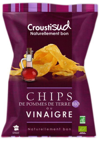 Chips de pommes de terre au vinaigre - Lot de 5 paquets de 100g