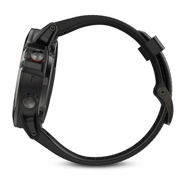 Fénix 5X Sapphire Gray - Bracelet noir - Reconditionné Officiel