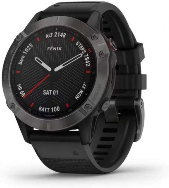 Fénix 6 Sapphire carbon gray + Bracelet noir - Reconditionné officiel