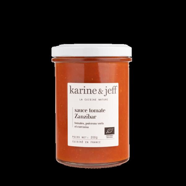 Sauce Zanzibar tomates, poivrons verts et curcuma - 3 pots de 200g