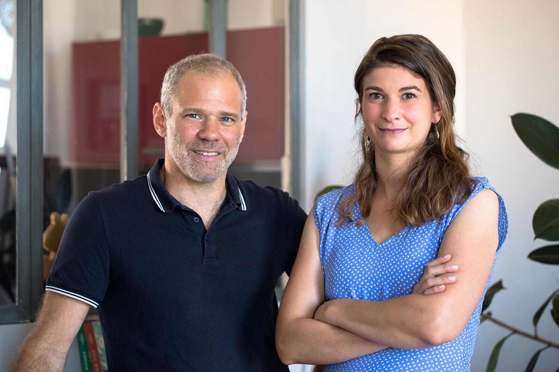 Stéphanie et Maxime, cofondateurs de BeBlue